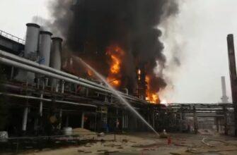 Пожар в Новом Уренгое